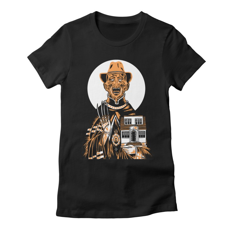 St. Freddy, Patron Saint of Nightmares Women's Fitted T-Shirt by craighorky's Shop