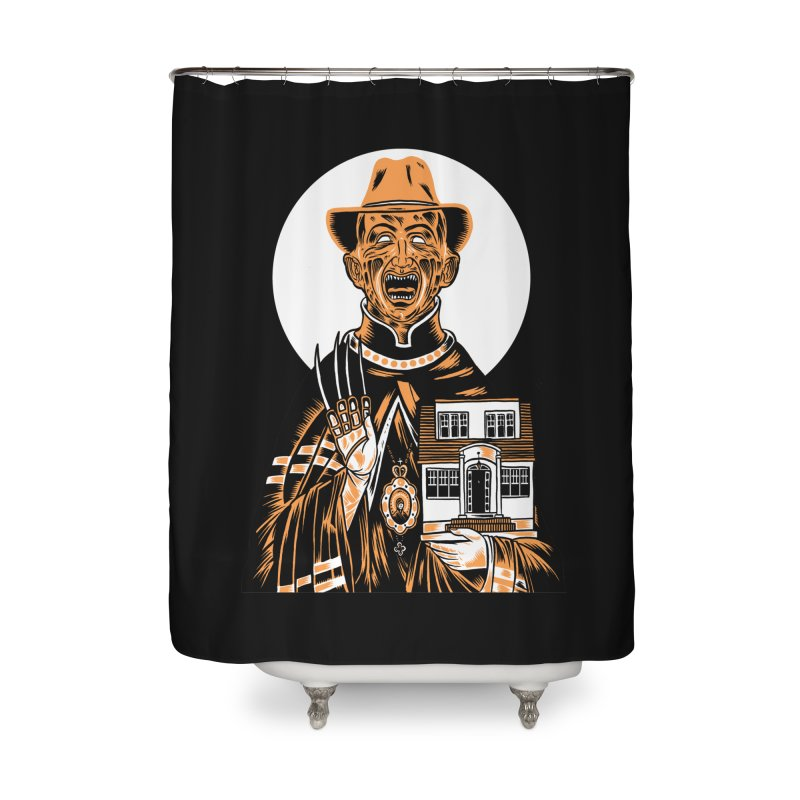 St. Freddy, Patron Saint of Nightmares Home Shower Curtain by craighorky's Shop