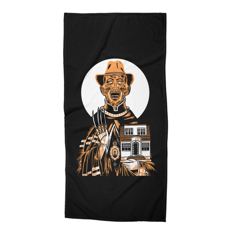 St. Freddy, Patron Saint of Nightmares Accessories Beach Towel by craighorky's Shop