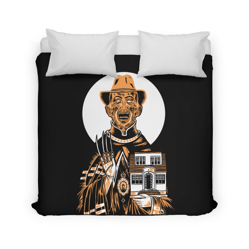 St. Freddy, Patron Saint of Nightmares Home Duvet by craighorky's Shop