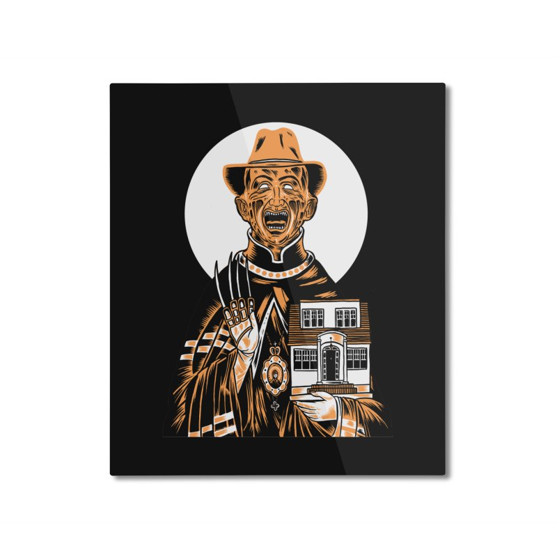 St. Freddy, Patron Saint of Nightmares Home Mounted Aluminum Print by craighorky's Shop