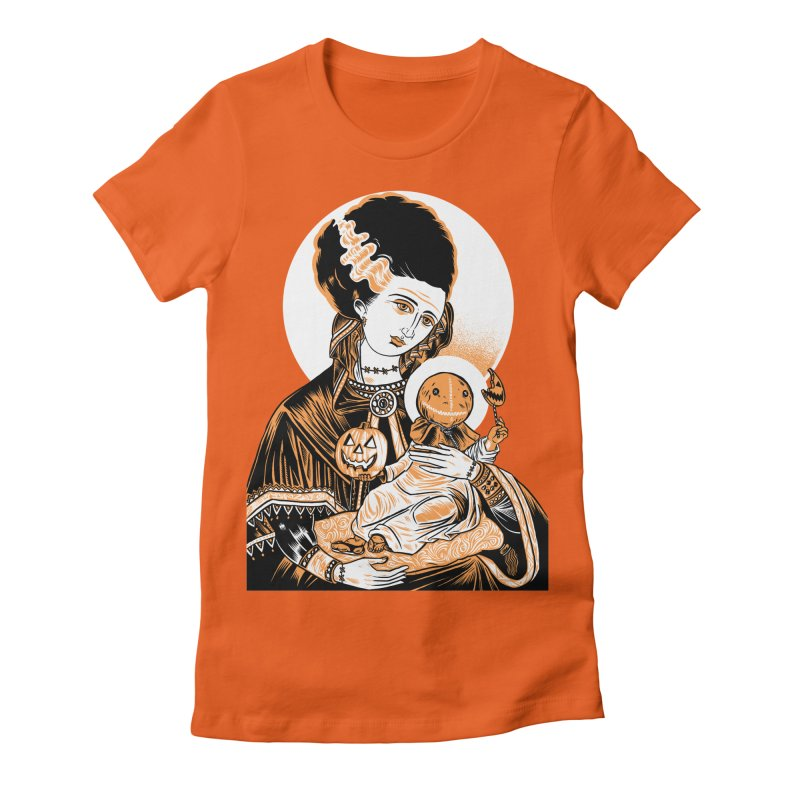 Virgin Bride of Frankenstein Women's Fitted T-Shirt by craighorky's Shop
