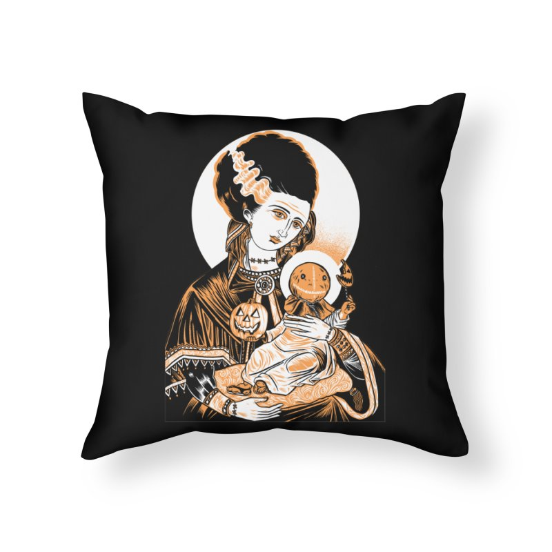 Virgin Bride of Frankenstein Home Throw Pillow by craighorky's Shop