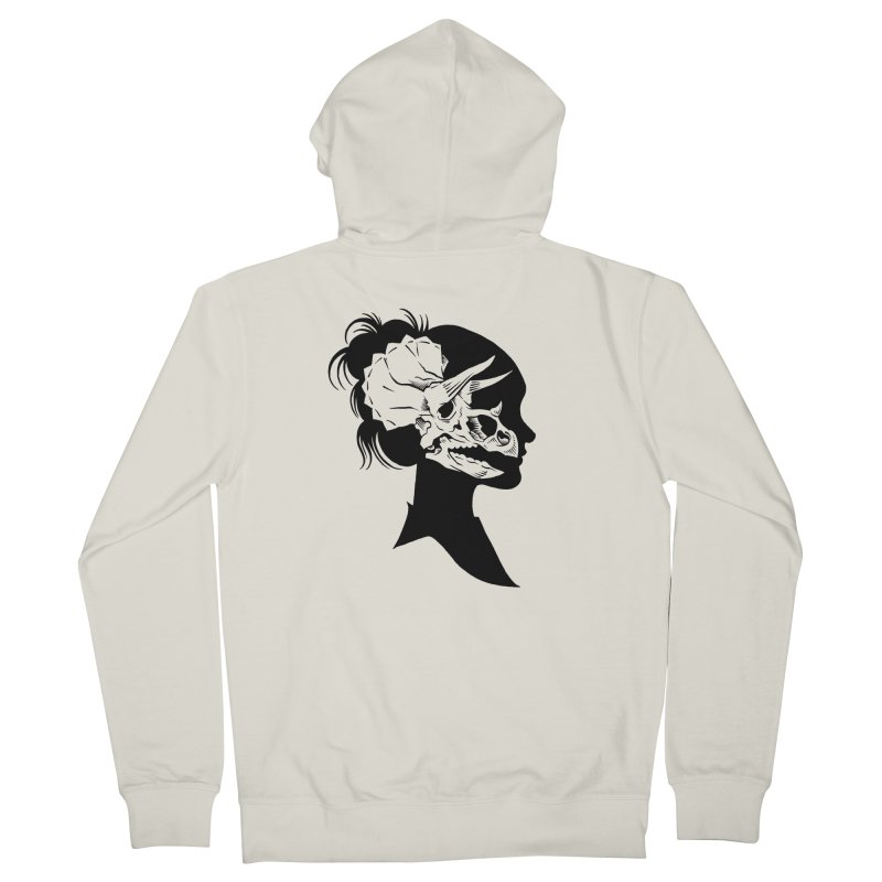 Triceratops Girl Women's Zip-Up Hoody by craighorky's Shop