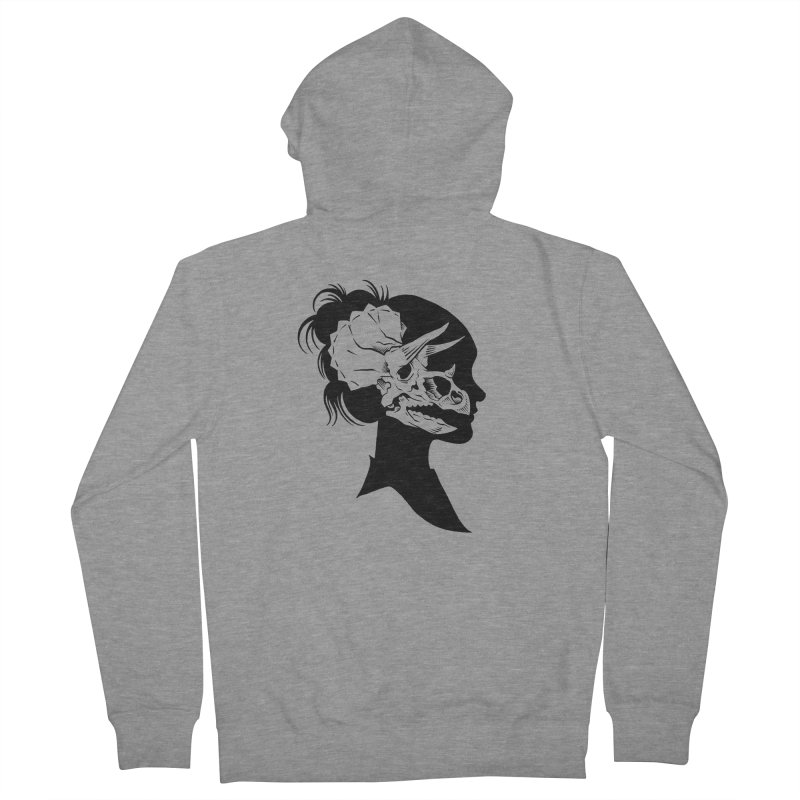 Triceratops Girl Men's Zip-Up Hoody by craighorky's Shop
