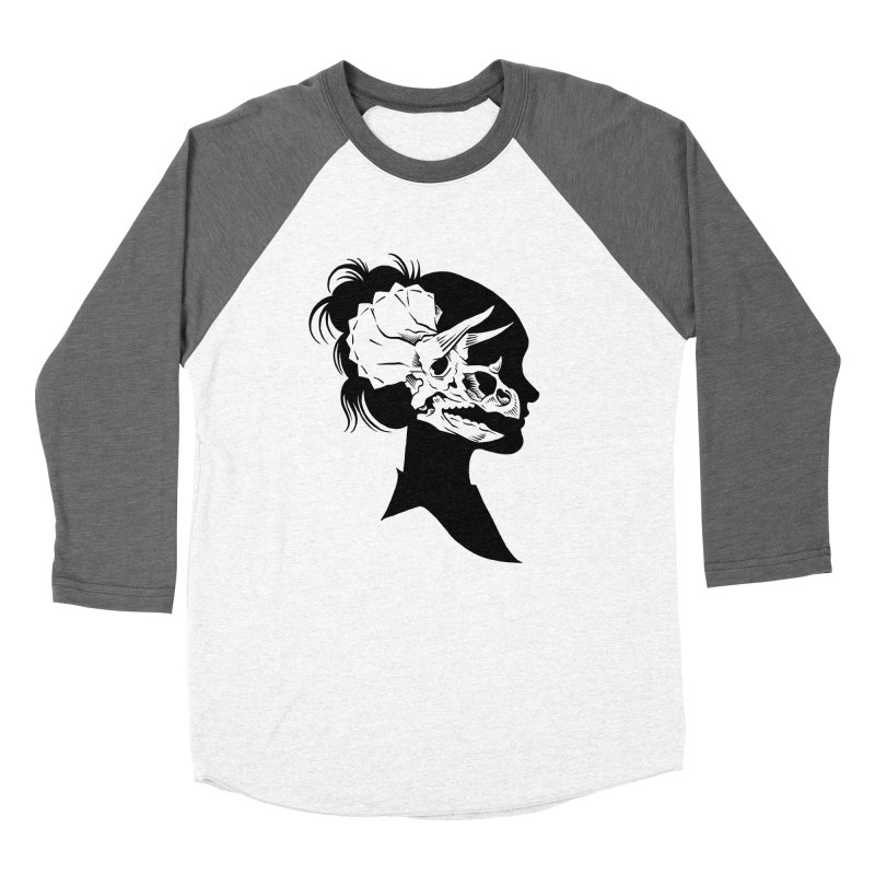 Triceratops Girl Men's Baseball Triblend T-Shirt by craighorky's Shop