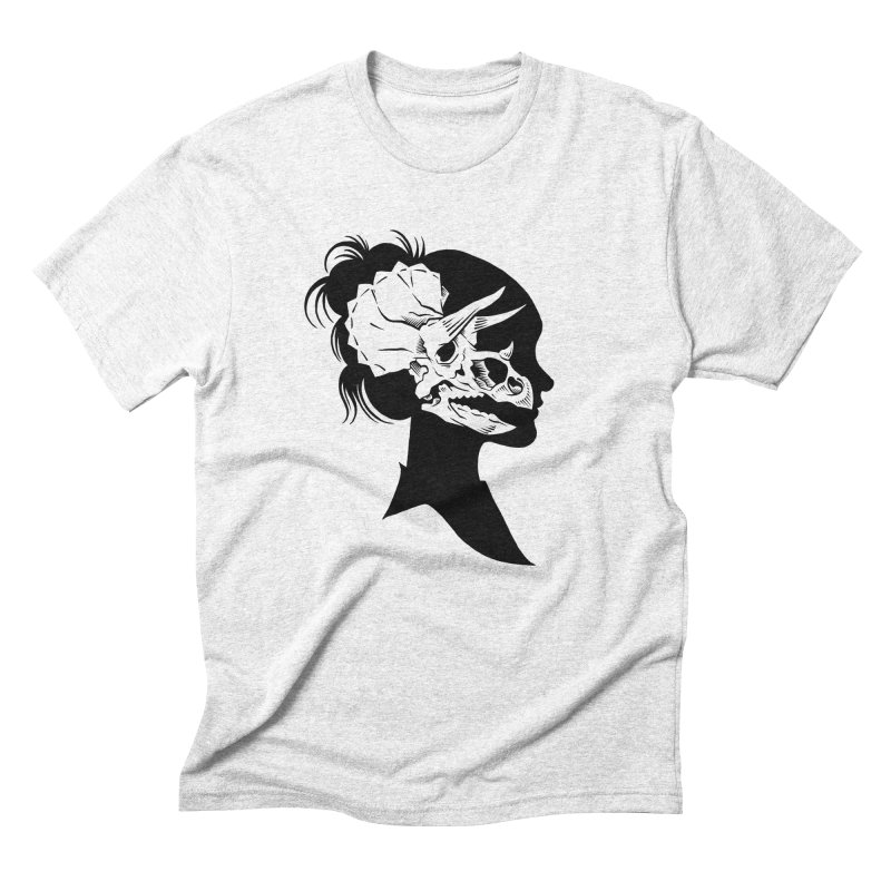 Triceratops Girl Men's Triblend T-shirt by craighorky's Shop