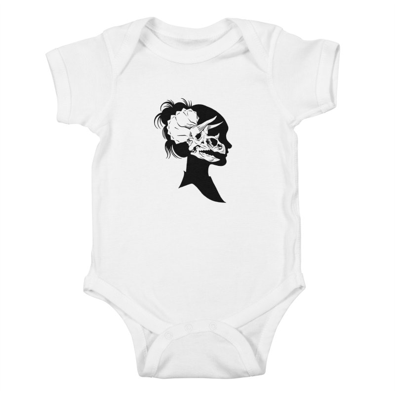 Triceratops Girl Kids Baby Bodysuit by craighorky's Shop