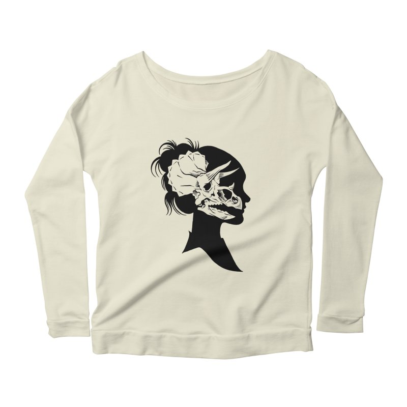 Triceratops Girl Women's Longsleeve Scoopneck  by craighorky's Shop