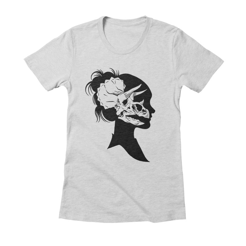 Triceratops Girl Women's Fitted T-Shirt by craighorky's Shop