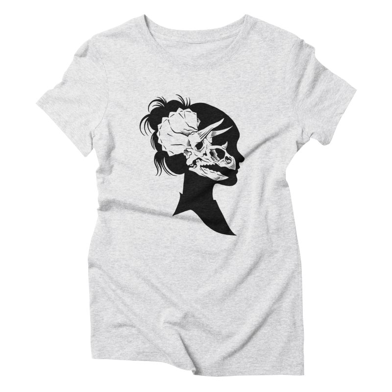 Triceratops Girl Women's Triblend T-shirt by craighorky's Shop