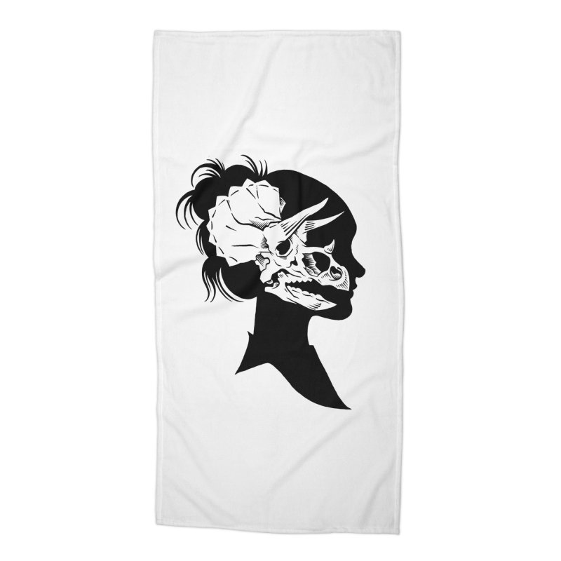 Triceratops Girl Accessories Beach Towel by craighorky's Shop