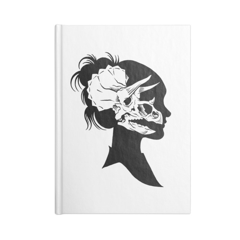 Triceratops Girl Accessories Notebook by craighorky's Shop