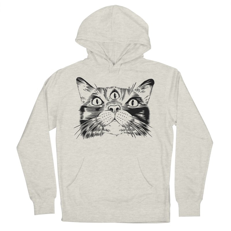three eyed cat Men's Pullover Hoody by craighorky's Shop