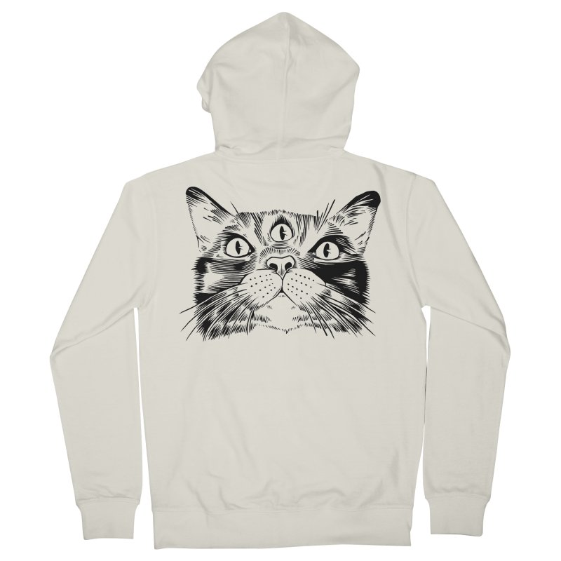 three eyed cat Men's Zip-Up Hoody by craighorky's Shop