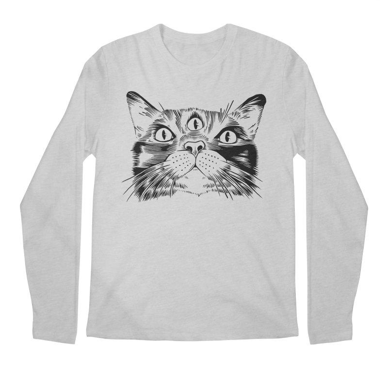 three eyed cat Men's Longsleeve T-Shirt by craighorky's Shop