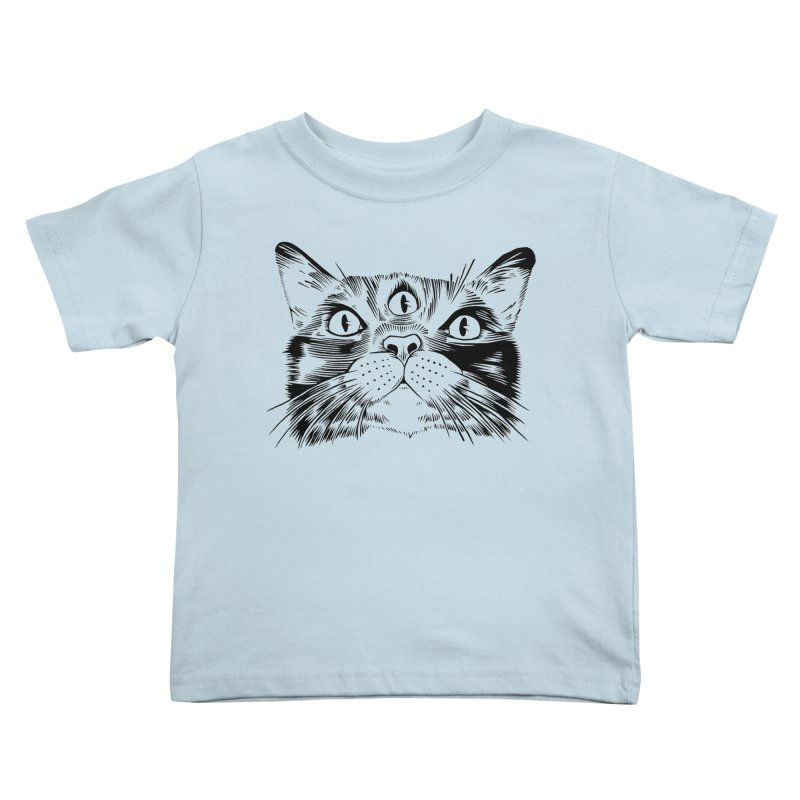 three eyed cat Kids Toddler T-Shirt by craighorky's Shop