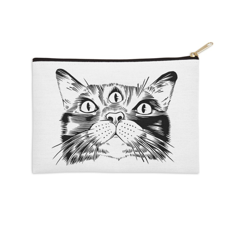 three eyed cat Accessories Zip Pouch by craighorky's Shop