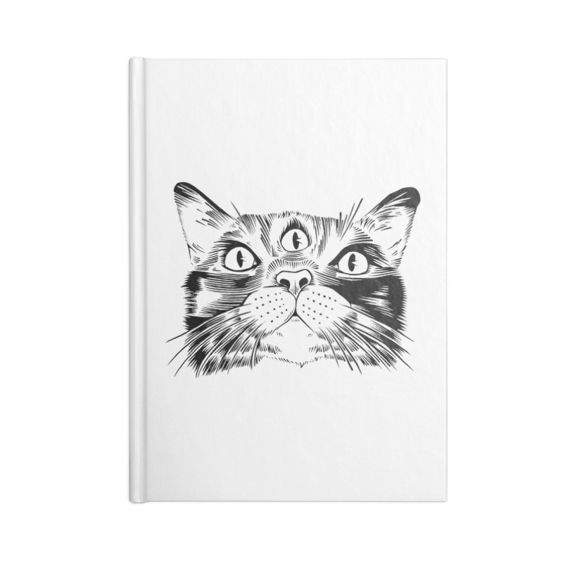 three eyed cat Accessories Notebook by craighorky's Shop
