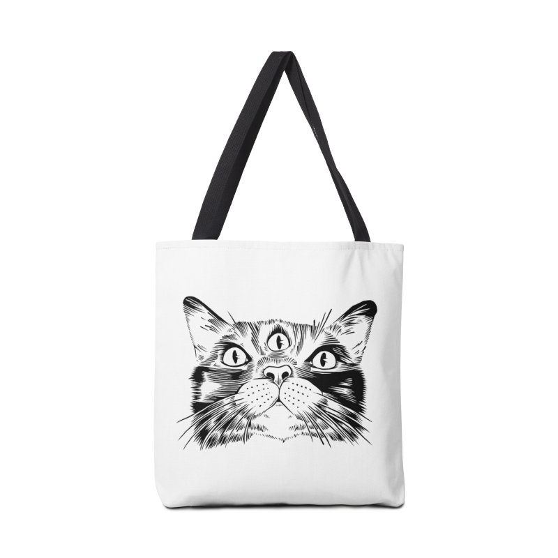 three eyed cat Accessories Bag by craighorky's Shop