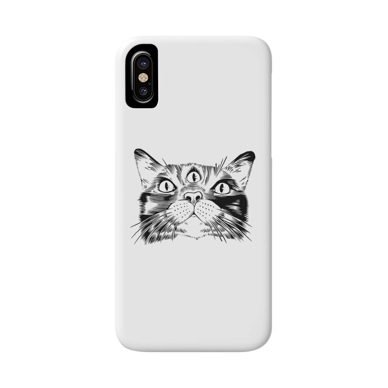 three eyed cat Accessories Phone Case by craighorky's Shop