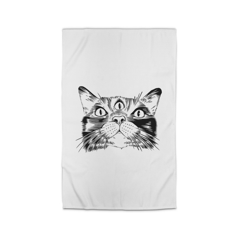 three eyed cat Home Rug by craighorky's Shop