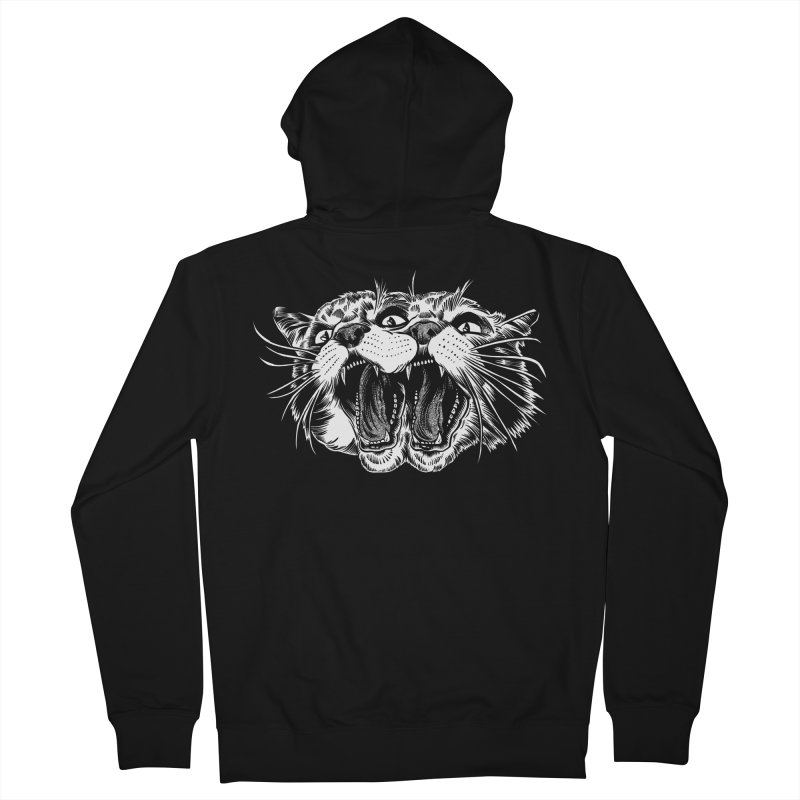 another angry janus cat Men's Zip-Up Hoody by craighorky's Shop