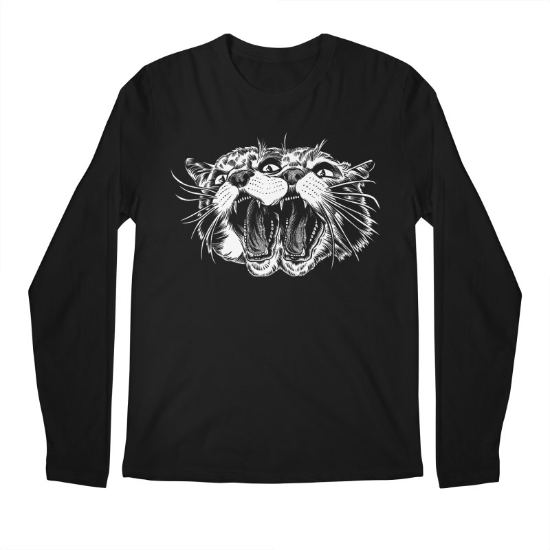 another angry janus cat Men's Longsleeve T-Shirt by craighorky's Shop