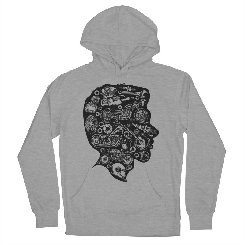 Motorcycle Silhouette  Women's Pullover Hoody by craighorky's Shop