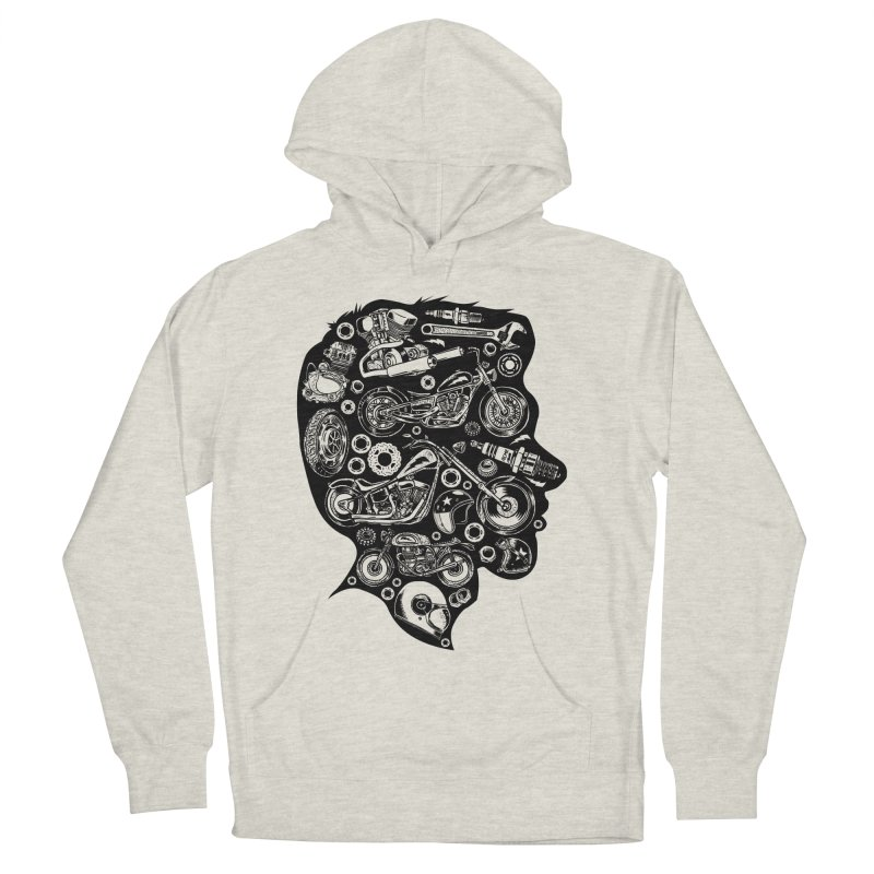 Motorcycle Silhouette  Men's Pullover Hoody by craighorky's Shop