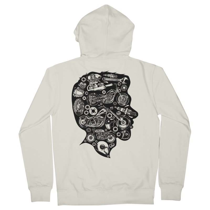 Motorcycle Silhouette  Women's Zip-Up Hoody by craighorky's Shop