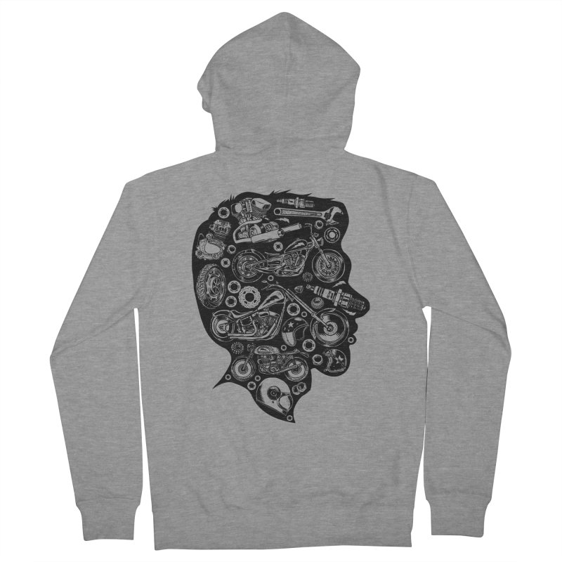 Motorcycle Silhouette  Men's Zip-Up Hoody by craighorky's Shop