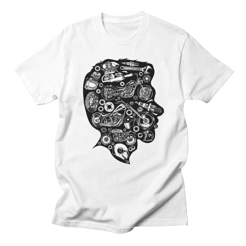 Motorcycle Silhouette  Men's T-Shirt by craighorky's Shop