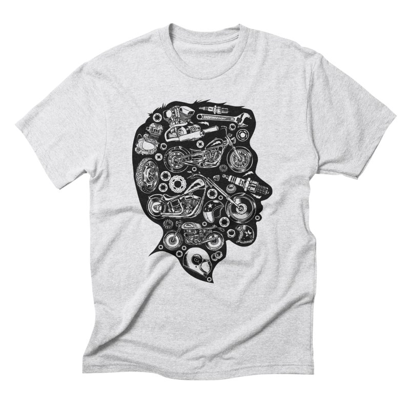 Motorcycle Silhouette  Men's Triblend T-Shirt by craighorky's Shop