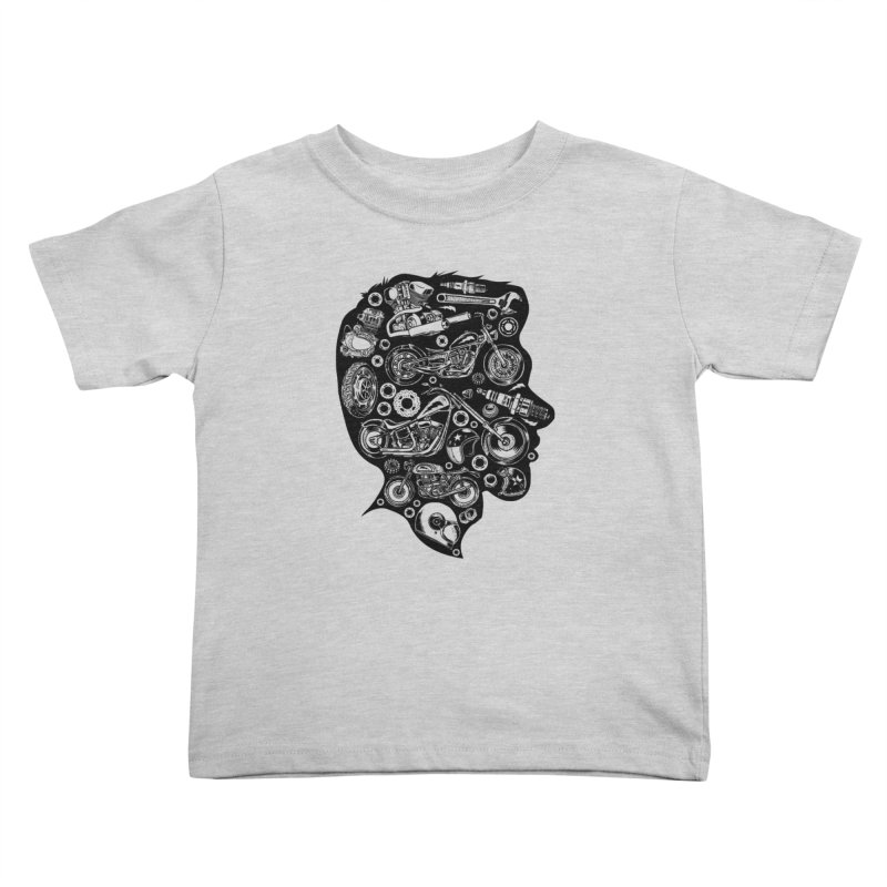 Motorcycle Silhouette  Kids Toddler T-Shirt by craighorky's Shop