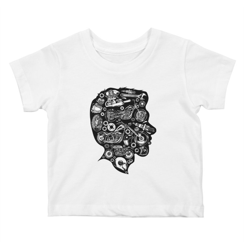 Motorcycle Silhouette  Kids Baby T-Shirt by craighorky's Shop