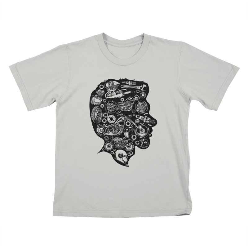 Motorcycle Silhouette  Kids T-Shirt by craighorky's Shop