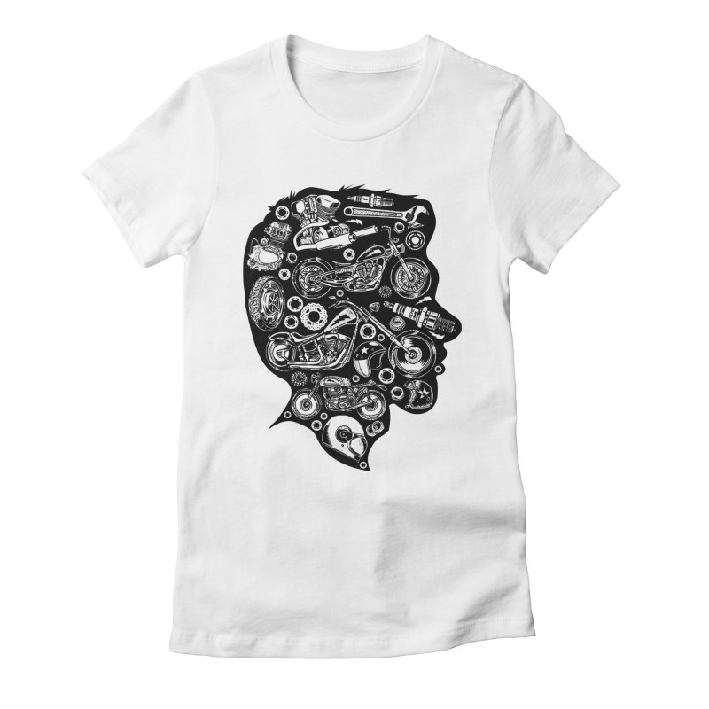 Motorcycle Silhouette  Women's Fitted T-Shirt by craighorky's Shop