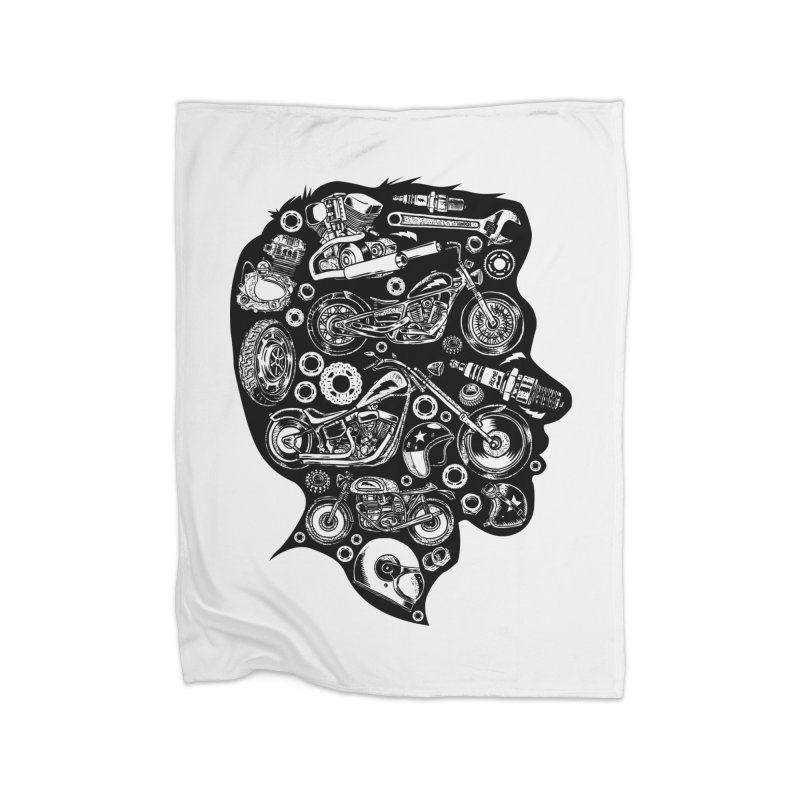 Motorcycle Silhouette  Home Blanket by craighorky's Shop