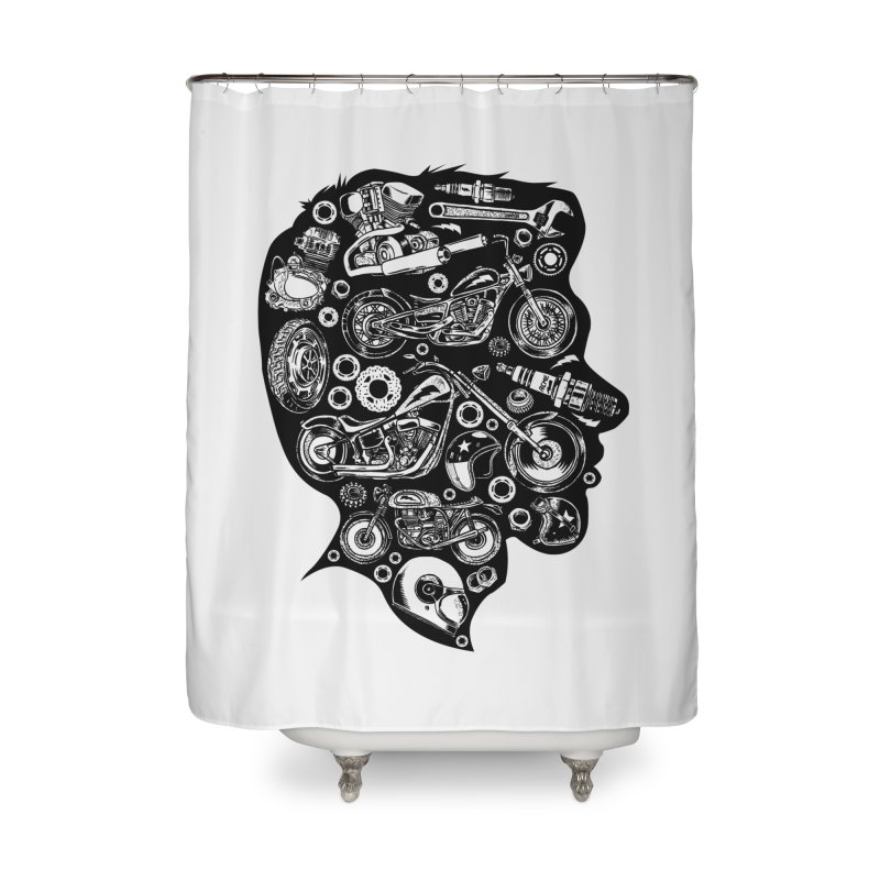 Motorcycle Silhouette  Home Shower Curtain by craighorky's Shop