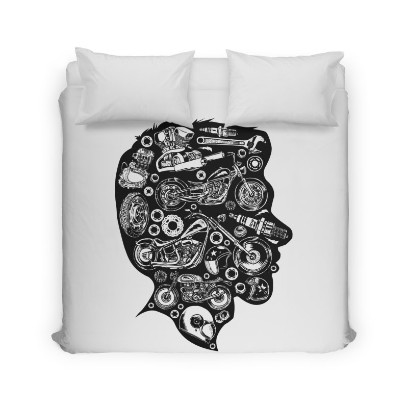 Motorcycle Silhouette  Home Duvet by craighorky's Shop