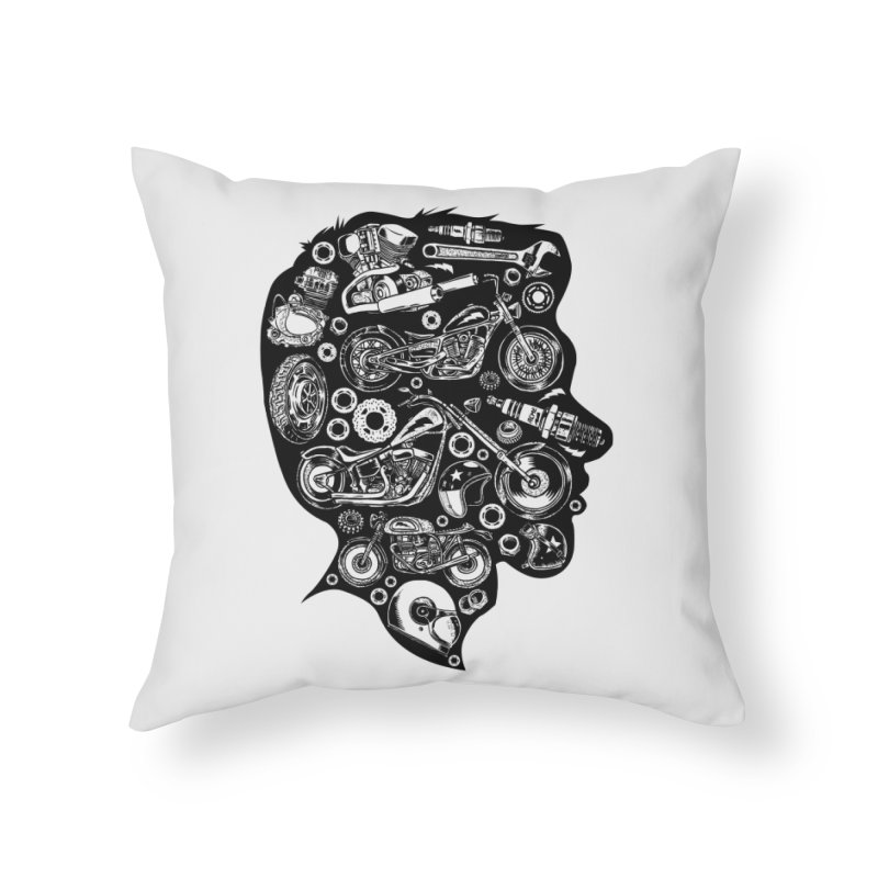 Motorcycle Silhouette  Home Throw Pillow by craighorky's Shop