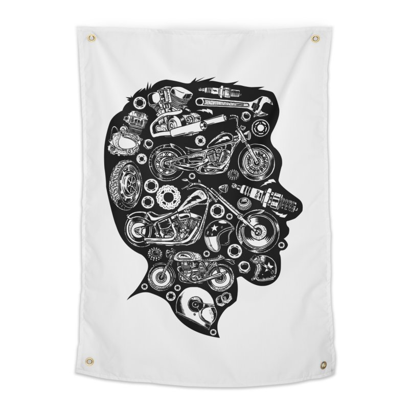 Motorcycle Silhouette  Home Tapestry by craighorky's Shop