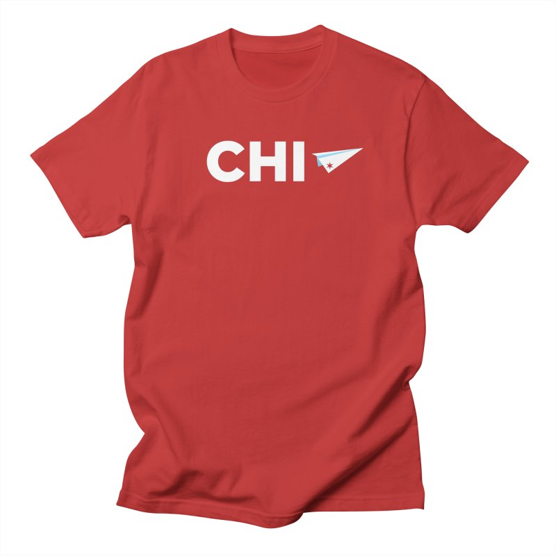 The Windy City in Men's Regular T-Shirt Red by Craig Nevels' Artist Shop