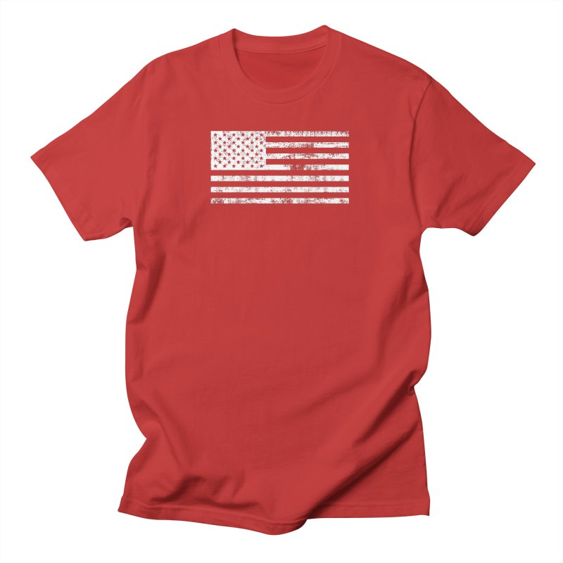 Stars and Stripes in Men's Regular T-Shirt Red by Craig Nevels' Artist Shop
