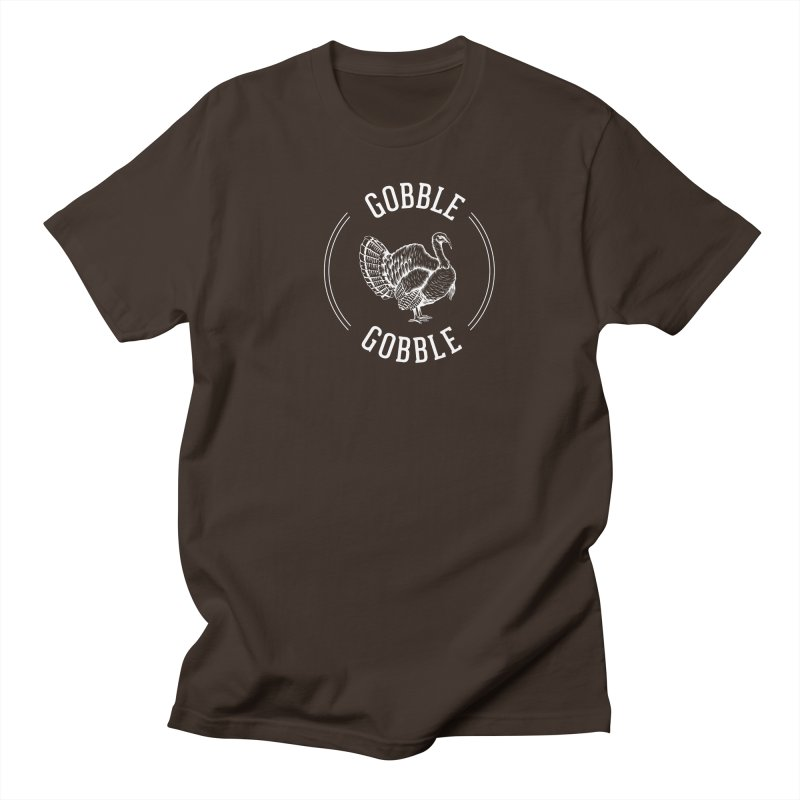 Gobble Gobble in Men's Regular T-Shirt Chocolate by Craig Nevels' Artist Shop
