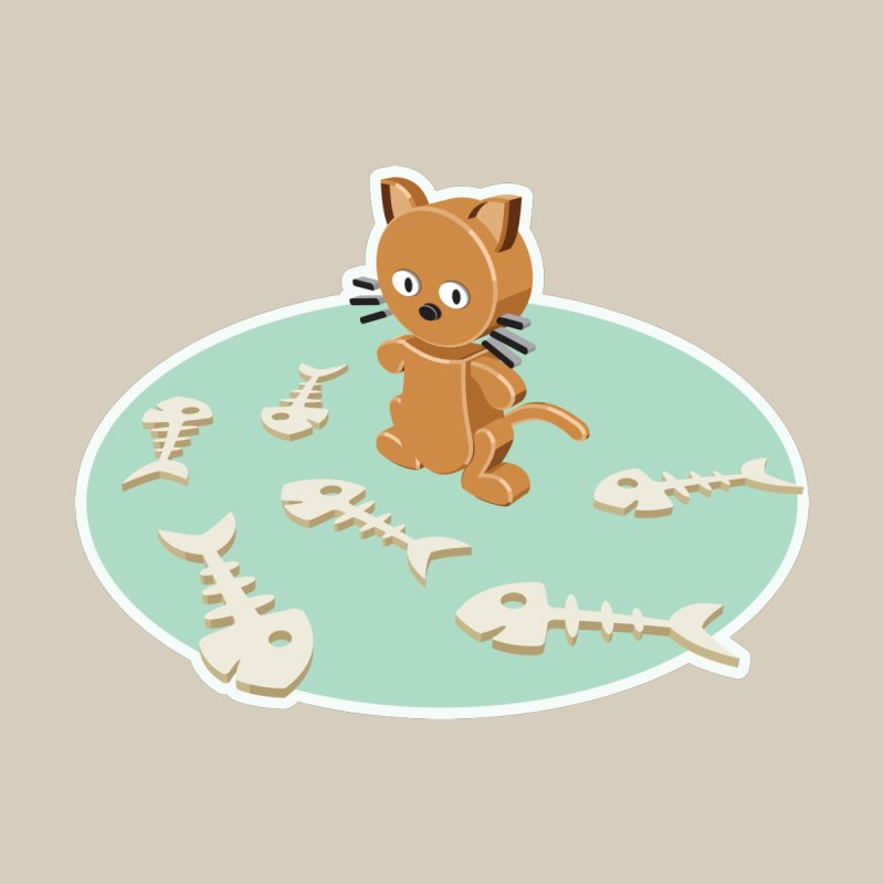 Cat and fishes by craneo242's Artist Shop