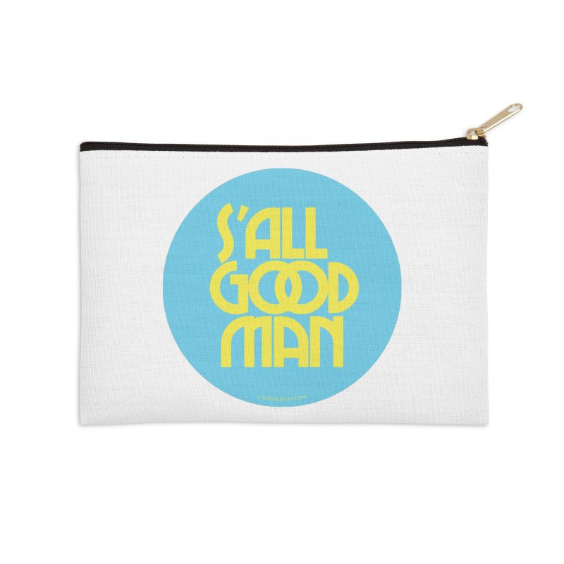 S'All Good Man! (blue) Accessories Zip Pouch by CRANK. outdoors + music lifestyle clothing