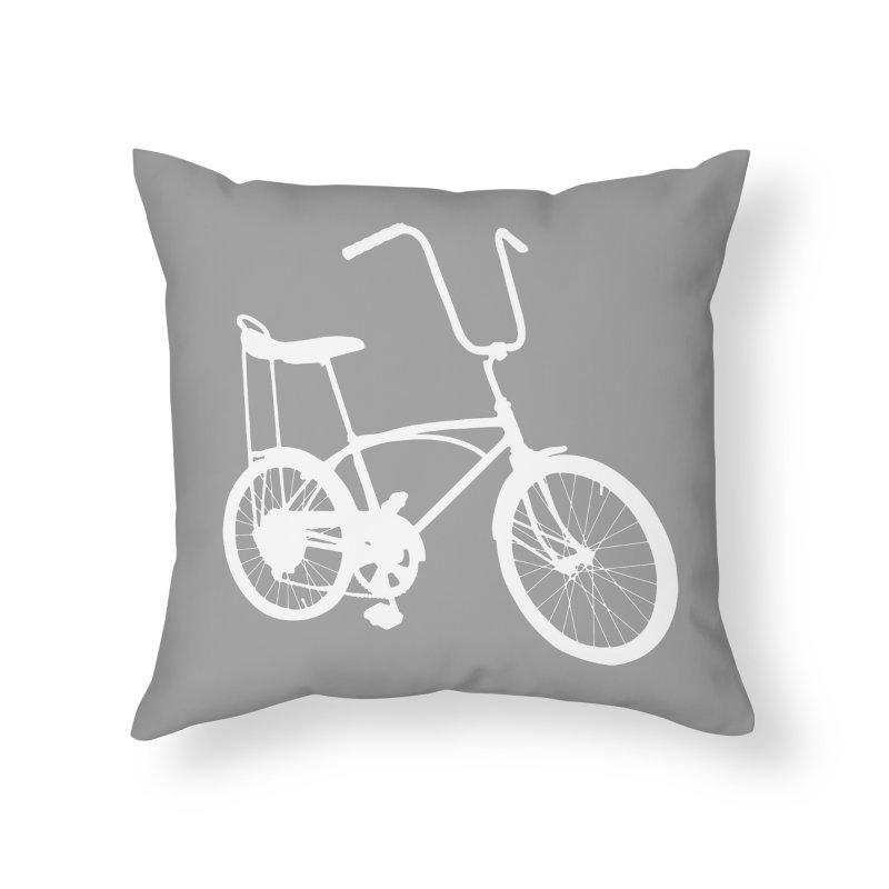 My Ride Home Throw Pillow by CRANK. outdoors + music lifestyle clothing