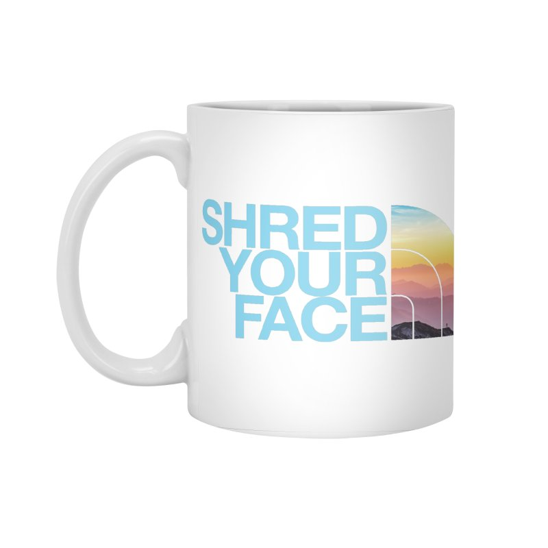 Shred Your Face (Blu) Accessories Standard Mug by CRANK. outdoors + music lifestyle clothing